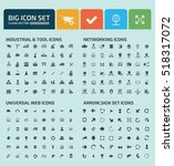 big icon set clean vector | Shutterstock .eps vector #518317072