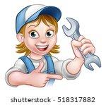 a plumber or mechanic handyman... | Shutterstock .eps vector #518317882