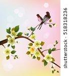 evening in the garden blooming... | Shutterstock .eps vector #518318236
