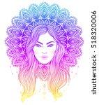 tribal fusion boho diva.... | Shutterstock .eps vector #518320006