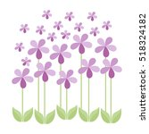 isolated floral design | Shutterstock .eps vector #518324182