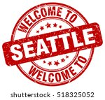 welcome to seattle. stamp.   Shutterstock .eps vector #518325052