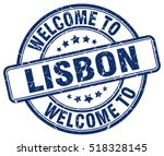 welcome to lisbon. stamp. | Shutterstock .eps vector #518328145