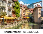 Small photo of ANNECY,FRANCE - SEPTEMBER 2,2016 - In the streets of Annecy. Annecy is the largest city of Haute Savoie department in the Auvergne Rhone Alpes region in southeastern France.