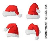 Santa Red Christmas Hat Vector...