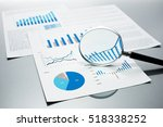 checking financial reports.... | Shutterstock . vector #518338252