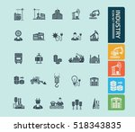 industry icon set vector | Shutterstock .eps vector #518343835