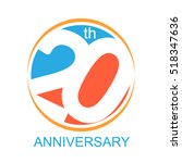 20th years anniversary and... | Shutterstock .eps vector #518347636