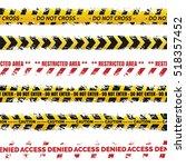 danger tapes set vector  ... | Shutterstock .eps vector #518357452