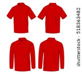 red polo shirt and polo with... | Shutterstock .eps vector #518363482