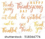 thanksgiving typography. happy... | Shutterstock .eps vector #518366776