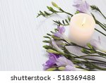 fresh freesia flowers on a... | Shutterstock . vector #518369488