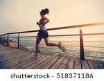 healthy lifestyle young fitness ... | Shutterstock . vector #518371186