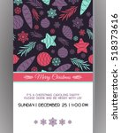 invitation to a christmas party.... | Shutterstock .eps vector #518373616