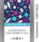 invitation to a christmas party.... | Shutterstock .eps vector #518373622