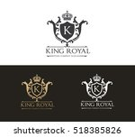 king royal logo  luxury logo... | Shutterstock .eps vector #518385826