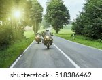 Group Of Motorcycle On Highway...