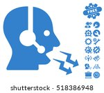 operator shout icon with bonus... | Shutterstock .eps vector #518386948