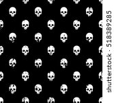 skulls seamless pattern | Shutterstock .eps vector #518389285