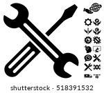 Spanner And Screwdriver Icon...