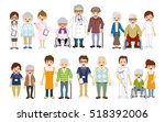 medical occupation and senior... | Shutterstock .eps vector #518392006