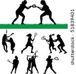 athlete,female,fitness,game,girl,illustration,lacrosse,people,person,shoot,silhouette,sport,vector,women