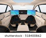 autonomous car interior design. ...   Shutterstock . vector #518400862