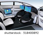 autonomous car interior design. ... | Shutterstock . vector #518400892