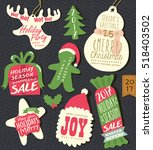 christmas tag   labels | Shutterstock .eps vector #518403502
