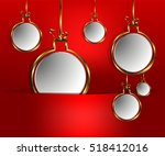 red background with a slit and... | Shutterstock .eps vector #518412016