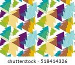 xmass tree art vector... | Shutterstock .eps vector #518414326