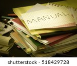 the pile of business documents  ... | Shutterstock . vector #518429728