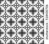 vector seamless black and white ... | Shutterstock .eps vector #518430706