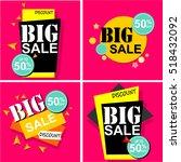 flat design sale stickers.... | Shutterstock .eps vector #518432092