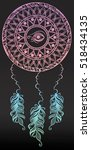 dreamcatcher with eye of ra and ...   Shutterstock .eps vector #518434135