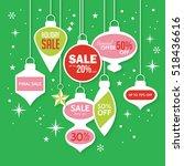 christmas sale banner design...   Shutterstock .eps vector #518436616