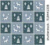 christmas seamless pattern.... | Shutterstock .eps vector #518441338