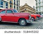 havana  cuba  oct 31  2016  old ... | Shutterstock . vector #518445202