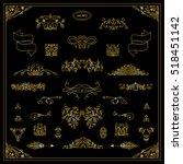 vector set of calligraphic... | Shutterstock .eps vector #518451142