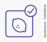 icon lemon vector outline design   Shutterstock .eps vector #518458162