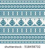 christmas seamless strip... | Shutterstock .eps vector #518458732
