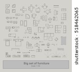 set of furniture top view for... | Shutterstock .eps vector #518462065