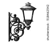 sketch of street light  ... | Shutterstock .eps vector #518462542