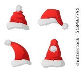 red santa claus christmas hat... | Shutterstock .eps vector #518467792