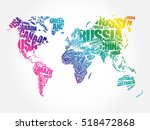 world map in typography word... | Shutterstock .eps vector #518472868