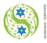 a yin yang symbol made of...   Shutterstock .eps vector #518474392