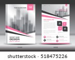 pink cover annual report... | Shutterstock .eps vector #518475226