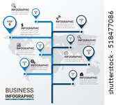 business infographic template.... | Shutterstock .eps vector #518477086
