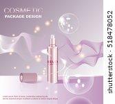 skin toner ads template  glass... | Shutterstock .eps vector #518478052