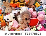knitted various toy figure  | Shutterstock . vector #518478826